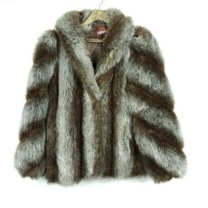 Vintage Jordache Faux Fur Small Medium Retro Coat